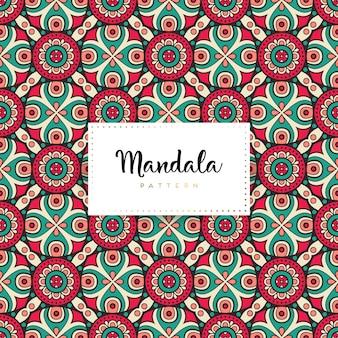 Modèle sans couture de luxe mandala ornemental