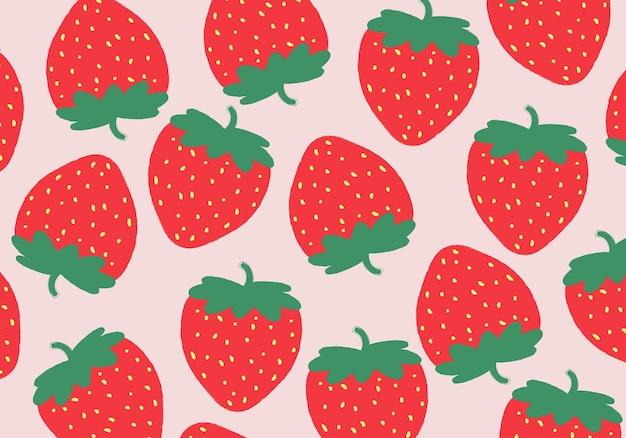 Modèle sans couture avec main dessiner fond de fraise. illustration vectorielle. abstrait.
