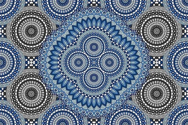 Modèle sans couture de mandala abstrait