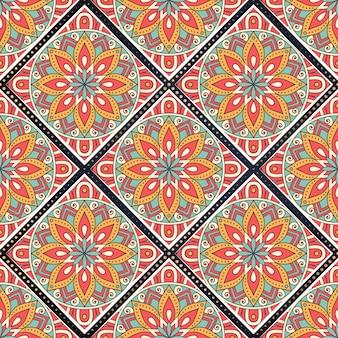 Modèle sans couture de mandala coloré