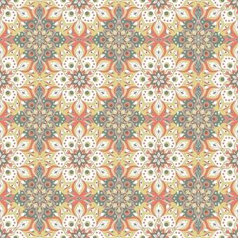 Modèle sans couture de mandala floral