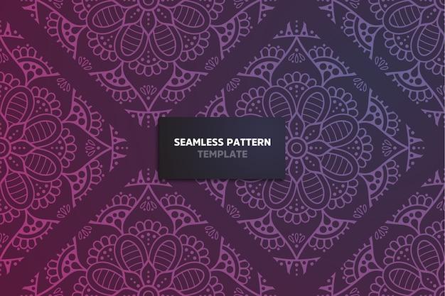 Modèle sans couture de mandala ornemental décoratif.
