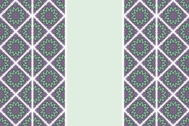 Modèle sans couture de mandala vintage dessiné à la main