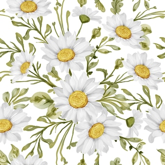 Modèle sans couture avec marguerite de fleur de printemps