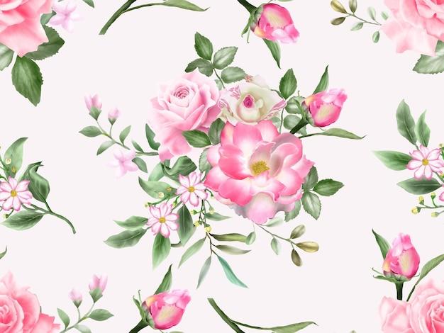 Modèle sans couture de mariage de roses élégantes