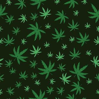 Modèle sans couture de marijuana.