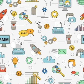 Modèle sans couture de marketing des médias sociaux