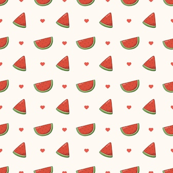 Modèle sans couture de melon d'eau