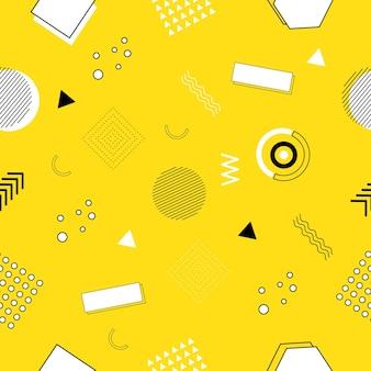Modèle sans couture de memphis de formes géométriques pour les tissus et les cartes postales