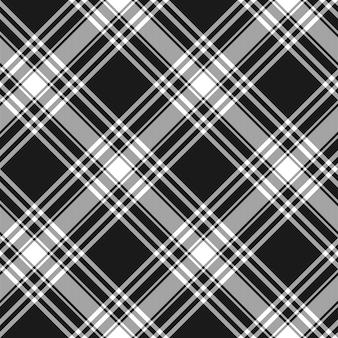 Modèle sans couture de menzies tartan kilt noir tissu diagonal texture fond