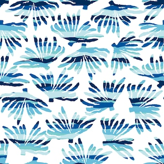 Modèle sans couture de mer avec des textures dessinées à la main.