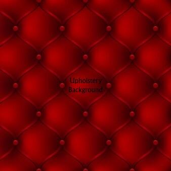 Modèle sans couture de meubles rembourrés en cuir rouge