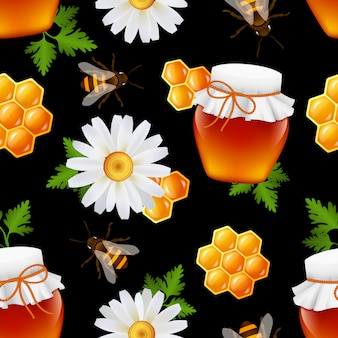Modèle sans couture de miel