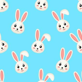 Modèle sans couture mignon de beaux lapins.