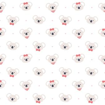 Modèle sans couture mignon koala ours