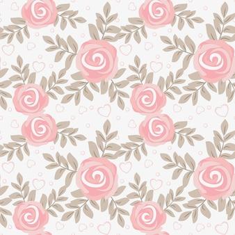 Modèle sans couture mignon rose douce.