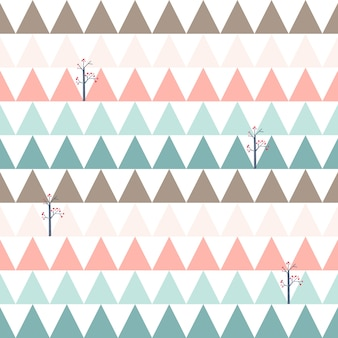 Modèle sans couture mignon triangle rose et bleu