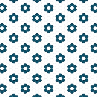 Modèle sans couture mignon tuile fleur hexagonale
