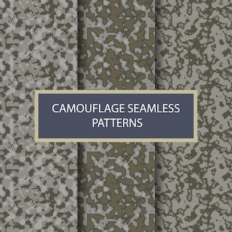 Modèle sans couture militaire de camouflage vecteur premium