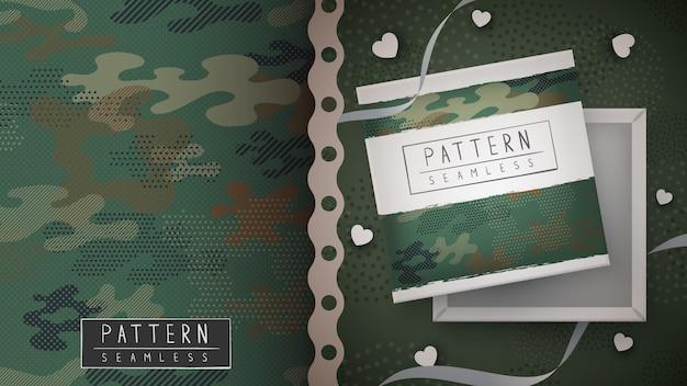 Modèle sans couture militaire de camouflage
