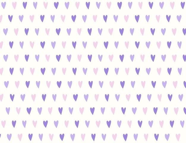 Modèle sans couture mini coeur violet