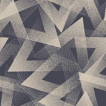 Modèle sans couture à la mode texture de triangles pointillés