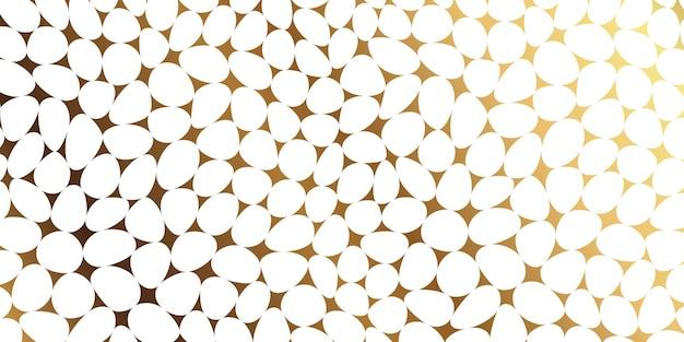 Modèle sans couture de mosaïque de galets de pierre de luxe