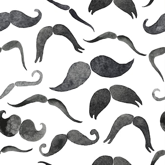 Modèle sans couture de moustaches