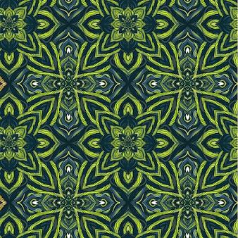 Modèle sans couture nature de vecteur avec fleurs abstraites.