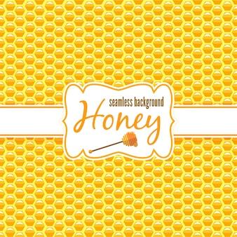 Modèle sans couture en nid d'abeille.