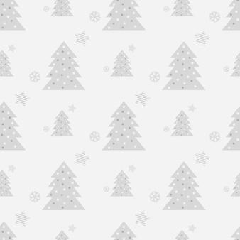 Modèle sans couture de noël avec des arbres de noël dans un style scandinave
