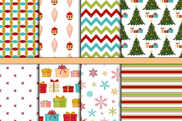 Modèle sans couture de noël et bonne année hiver vacances fond papier décoratif