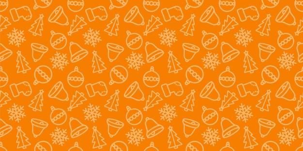 Modèle sans couture de noël. couleur orange