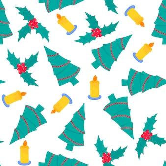 Modèle sans couture de noël et du nouvel an, papier numérique.