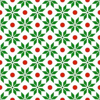Modèle sans couture de noël avec ornement géométrique abstrait dans des couleurs rouges greeen
