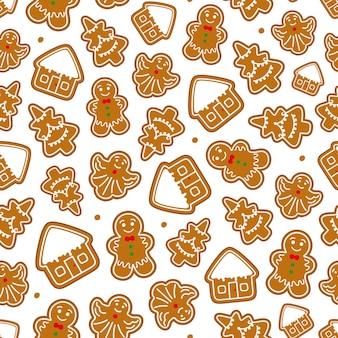 Modèle sans couture de noël en pain d'épice