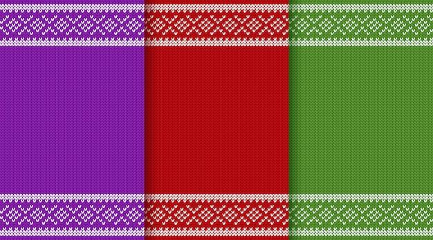 Modèle sans couture de noël en tricot.