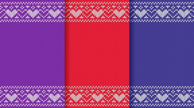 Modèle sans couture de noël tricoté