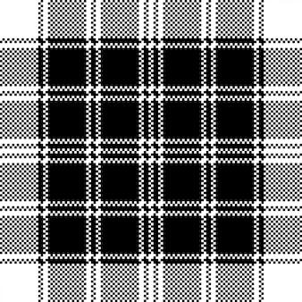 Modèle sans couture noir blanc à carreaux pixel classique