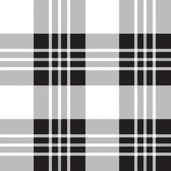 Modèle sans couture noir et blanc à carreaux tartan macgregor