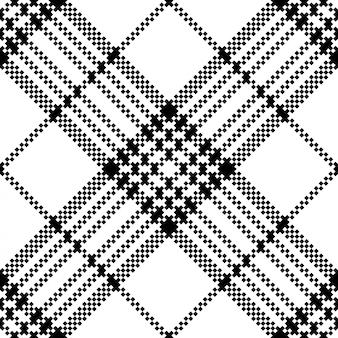 Modèle sans couture noir blanc de contrôle de pixel simple