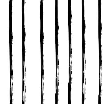 Modèle sans couture noir et blanc dessiné main dans un style grunge. formes de trait de pinceau