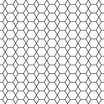 Modèle sans couture noir et blanc avec hexagone