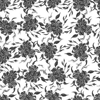 Modèle sans couture noir et blanc