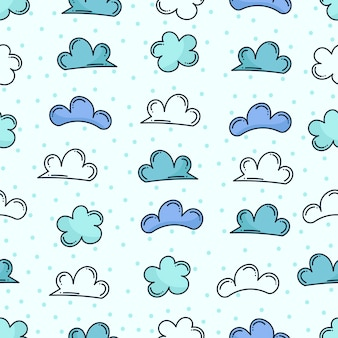 Modèle sans couture nuage doodle