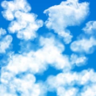 Modèle sans couture de nuages ciel
