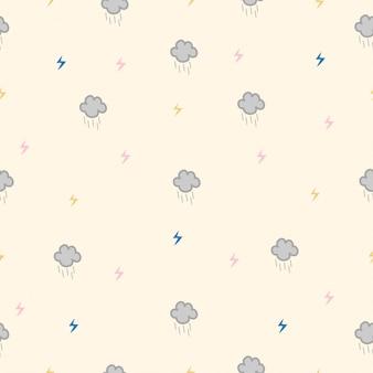 Modèle sans couture de nuages pluvieux