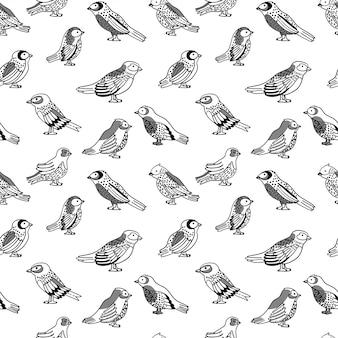Modèle sans couture avec oiseaux