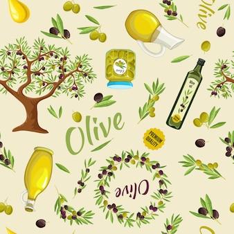 Modèle sans couture d'olive