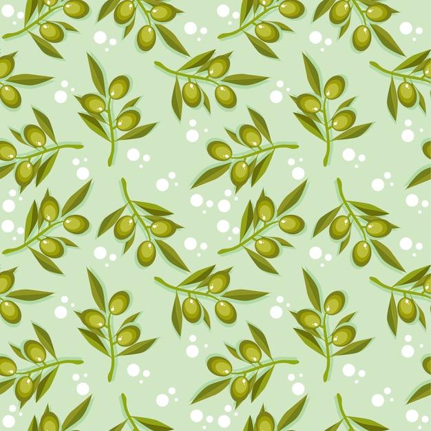 Modèle sans couture olive